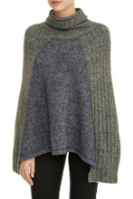 Load image into Gallery viewer, Colorblocked Knit Poncho