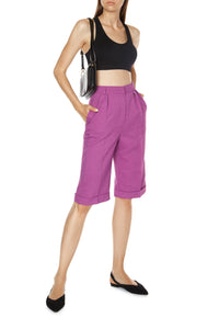 Knee Length Shorts - Purple