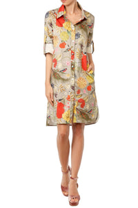 Birds Shirtdress