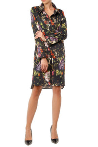 Lilac Shirtdress - Black