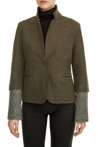 Knit Menswear Jacket