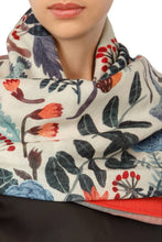 Load image into Gallery viewer, Blue Roses Scarf