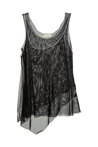 Double Layer Mesh Tank - Black