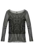 Load image into Gallery viewer, Mesh Boatneck Tee
