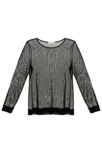 Mesh Sweater - Black
