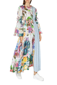 Garden Bouquet Hooded Maxi Dress