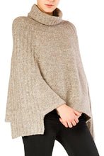 Load image into Gallery viewer, Knit Poncho - Beige