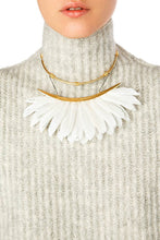 Load image into Gallery viewer, Feather Collar Necklace - White