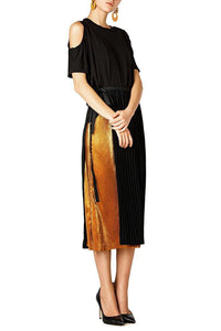 Metallic Slim Skirt