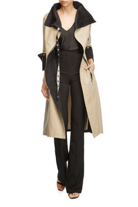Tailored Fit and Flare Coat