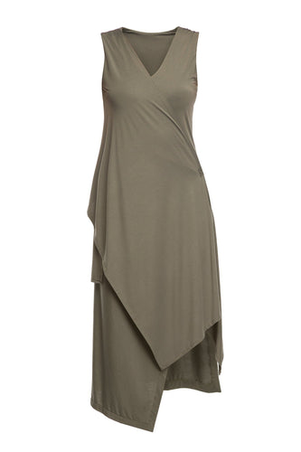 Convertible Drape Dress - Olive