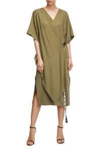 Convertible Belt Dress - Olive