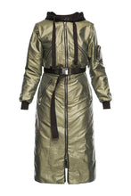 Load image into Gallery viewer, Metallic Convertible Coat - Green