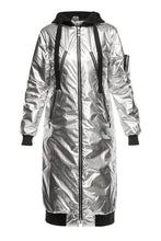 Load image into Gallery viewer, Metallic Convertible Coat - Silver