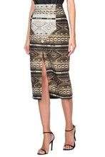 Load image into Gallery viewer, Boho Nomad Slim Skirt