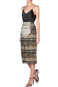 Boho Nomad Slim Skirt