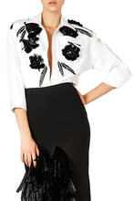 Load image into Gallery viewer, White Flower Applique Shirt