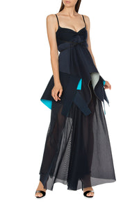 Draped Neoprene Gown