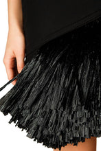 Load image into Gallery viewer, Asymmetric Raffia Fringe Skirt