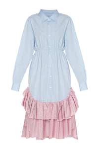 Ruffled Bamboo Shirtdress