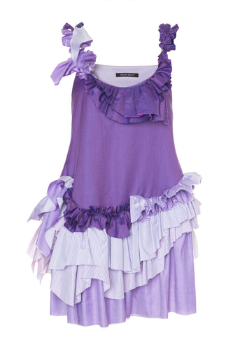 Ruffled Tiered Cotton Dress
