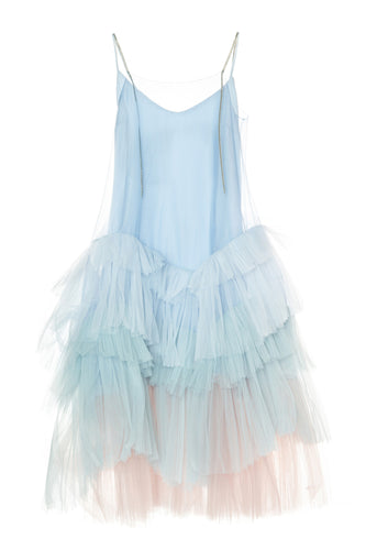 Tiered Tulle Slip Dress