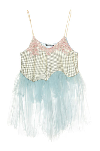 Embroidered Tiered Cami