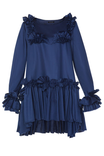 Ruffled Bib Tiered Dress