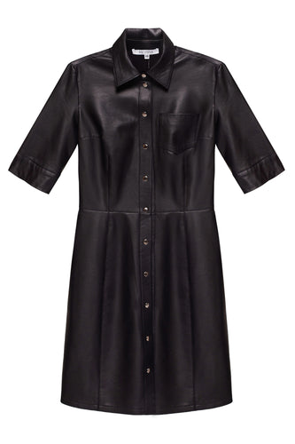 Eco Leather Shirtdress