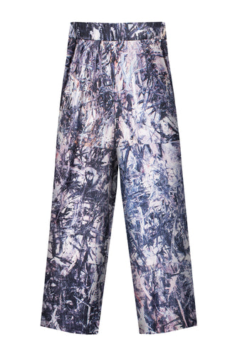 Abstract Wide Leg Pants
