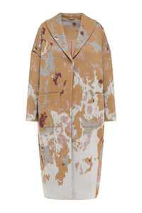 Jacquard Knit Cocoon Coat