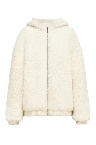 Teddy Bear Knit Hooded Jacket