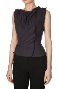 Saule Deconstructed Sleeveless Blouse