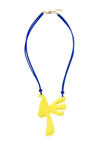 Bird Necklace - Yellow