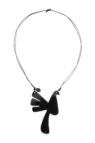 Bird Necklace - Black