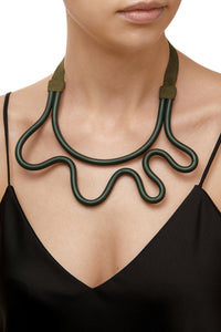 Sculpted Tube Necklace