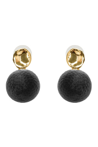 Textured Sphere Earrings