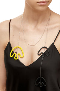 Freeform Rubber Necklace