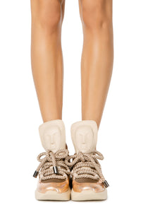 Ghost Lace Up Sneakers - Sand