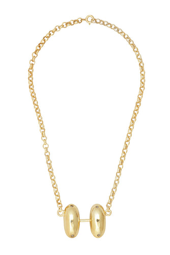 Double Drop Necklace - Gold