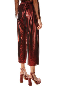 Satin Cropped Sunshine Pants