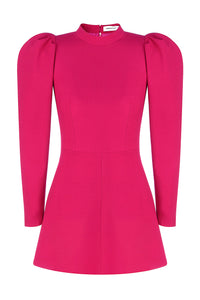 Bold Shoulder Mini Dress - Pink