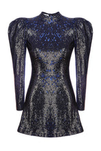Load image into Gallery viewer, Bold Shoulder Mini Dress - Sequins