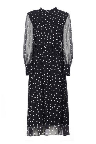 Sheer Dot Dress