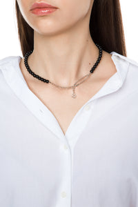 Bead Necklace - Silver