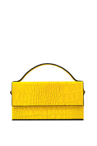 Box Crossbody Handbag - Yellow