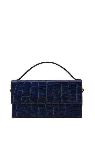 Box Crossbody Handbag - Navy