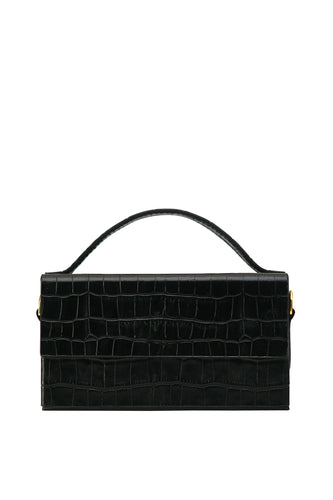 Box Crossbody Handbag - Black