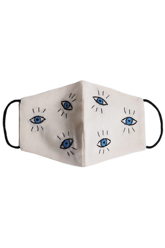 Embroidered Dancing Eyes Mask