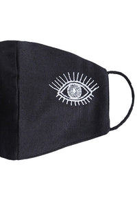 Embroidered Eye Mask - White